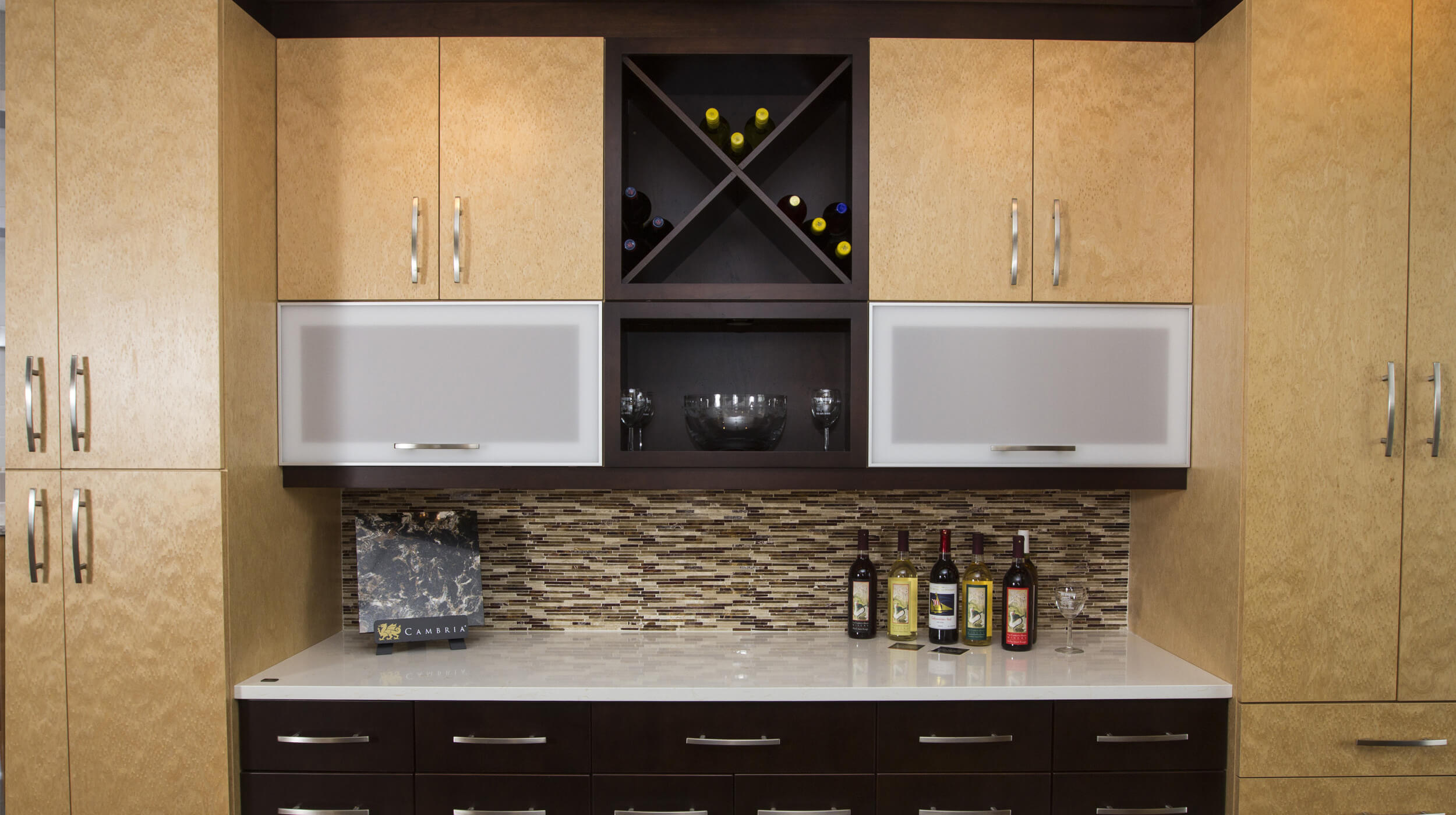 Custom wine rack and bar