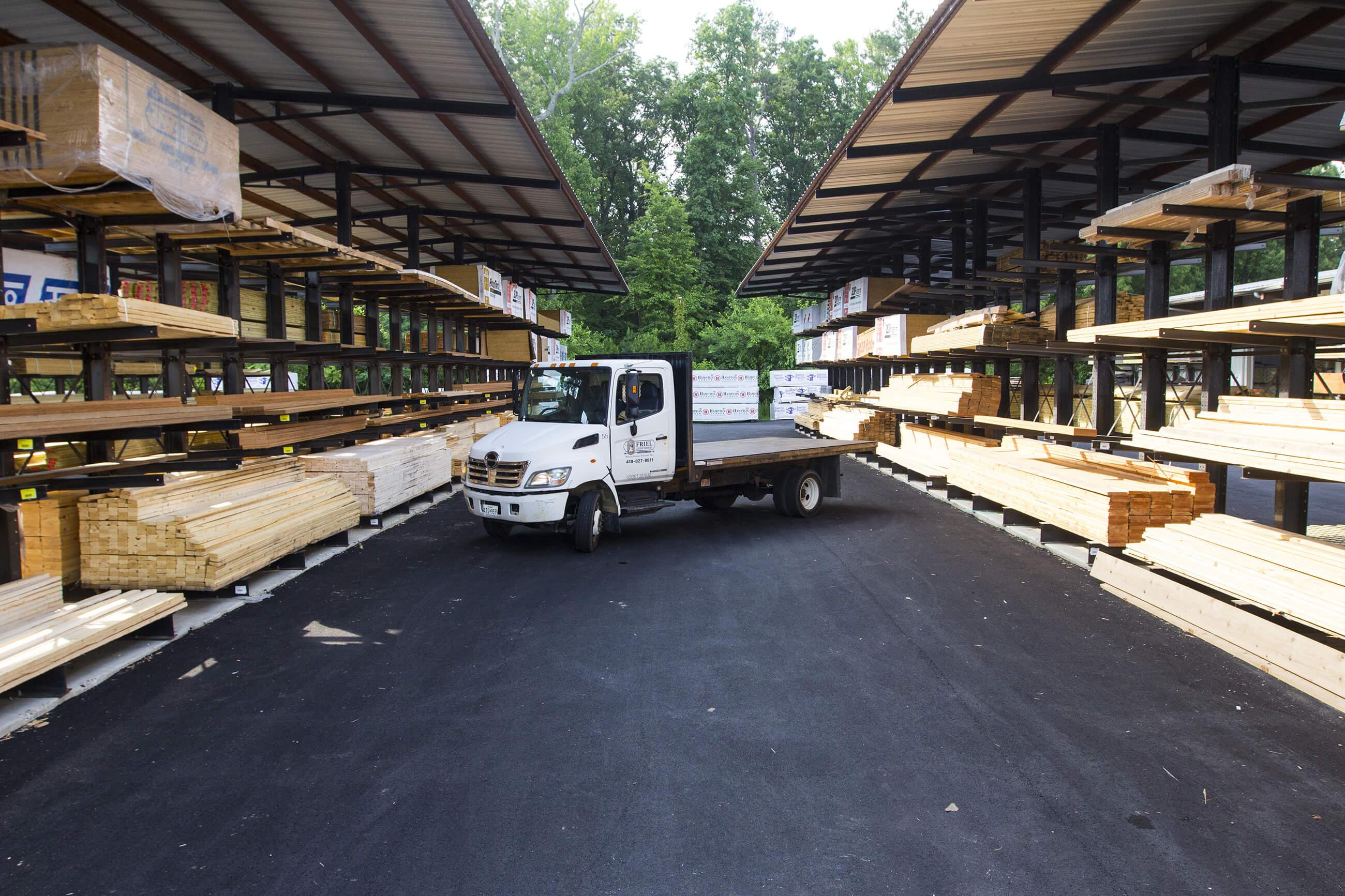 Friel Lumber Yard in Queenstown, MD