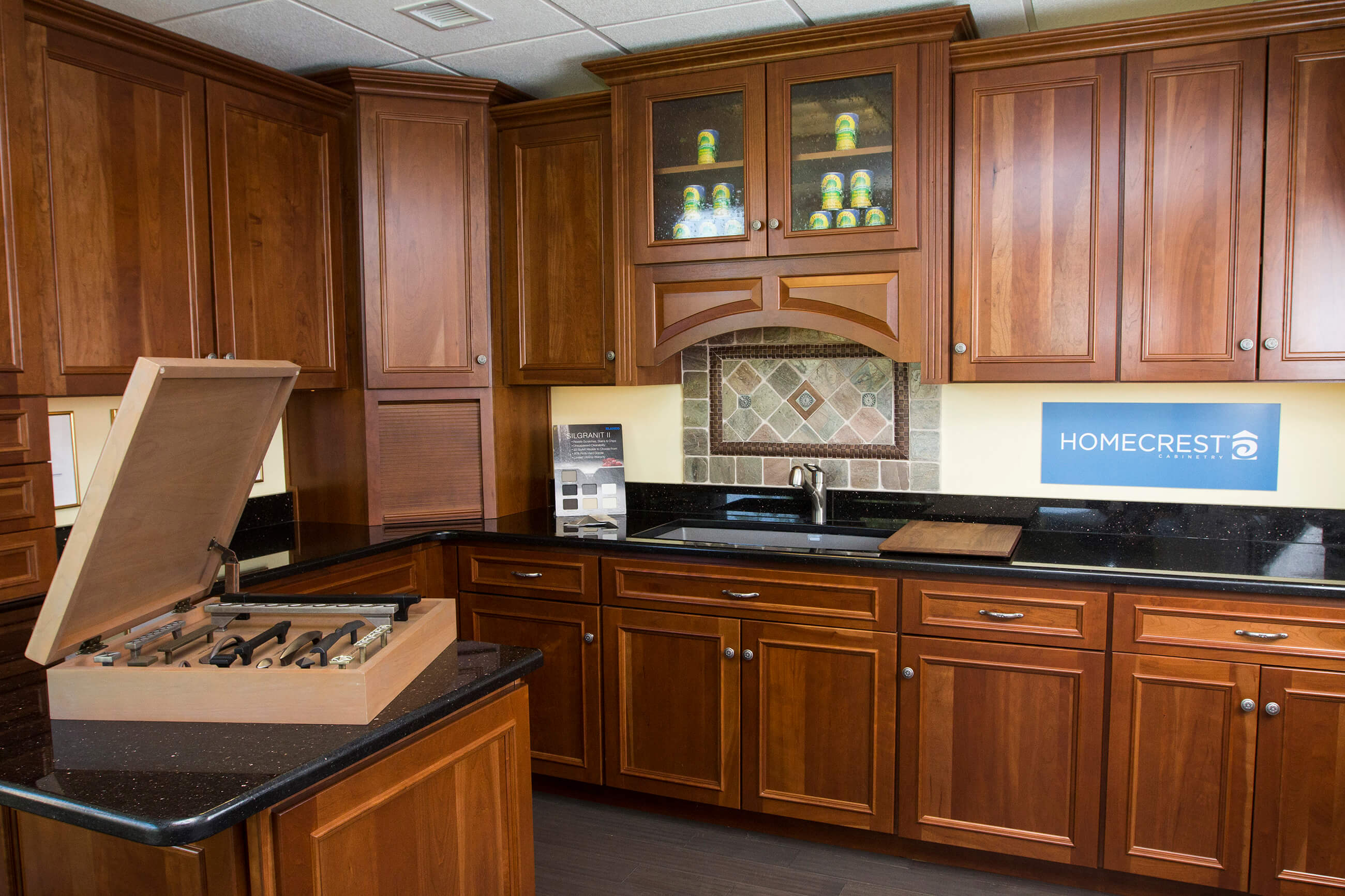 Wooden Cabinetry showroom set 2600px