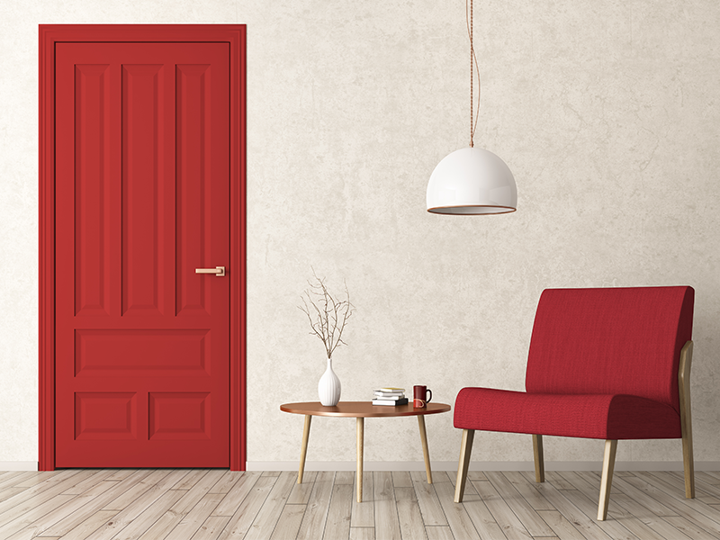 Interior Door Colors Red