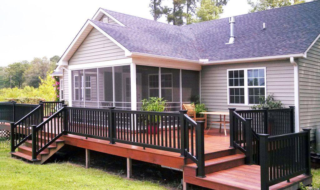 black deck railings