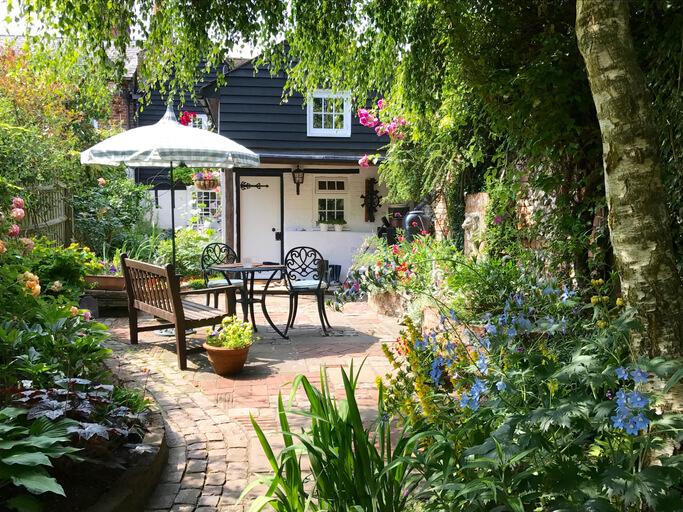 English Cottage Garden inspired backyard.