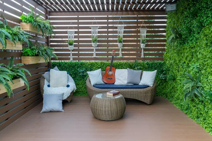 Small and Bold Backyard