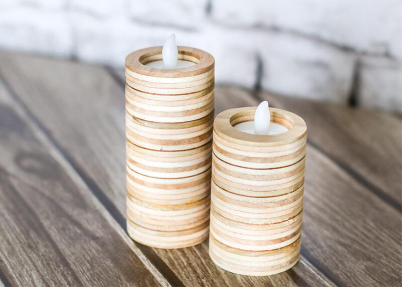 scrap wood candleholders
