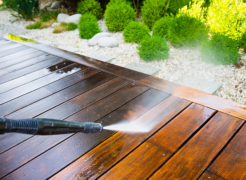 spring clean your yard hardscapes