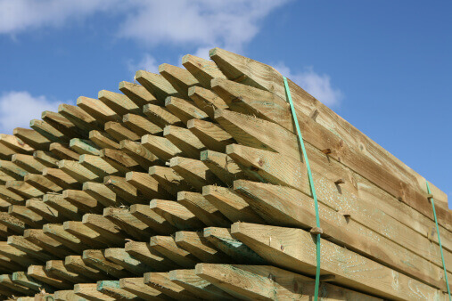 Pressure Treated Wood Fencing Posts
