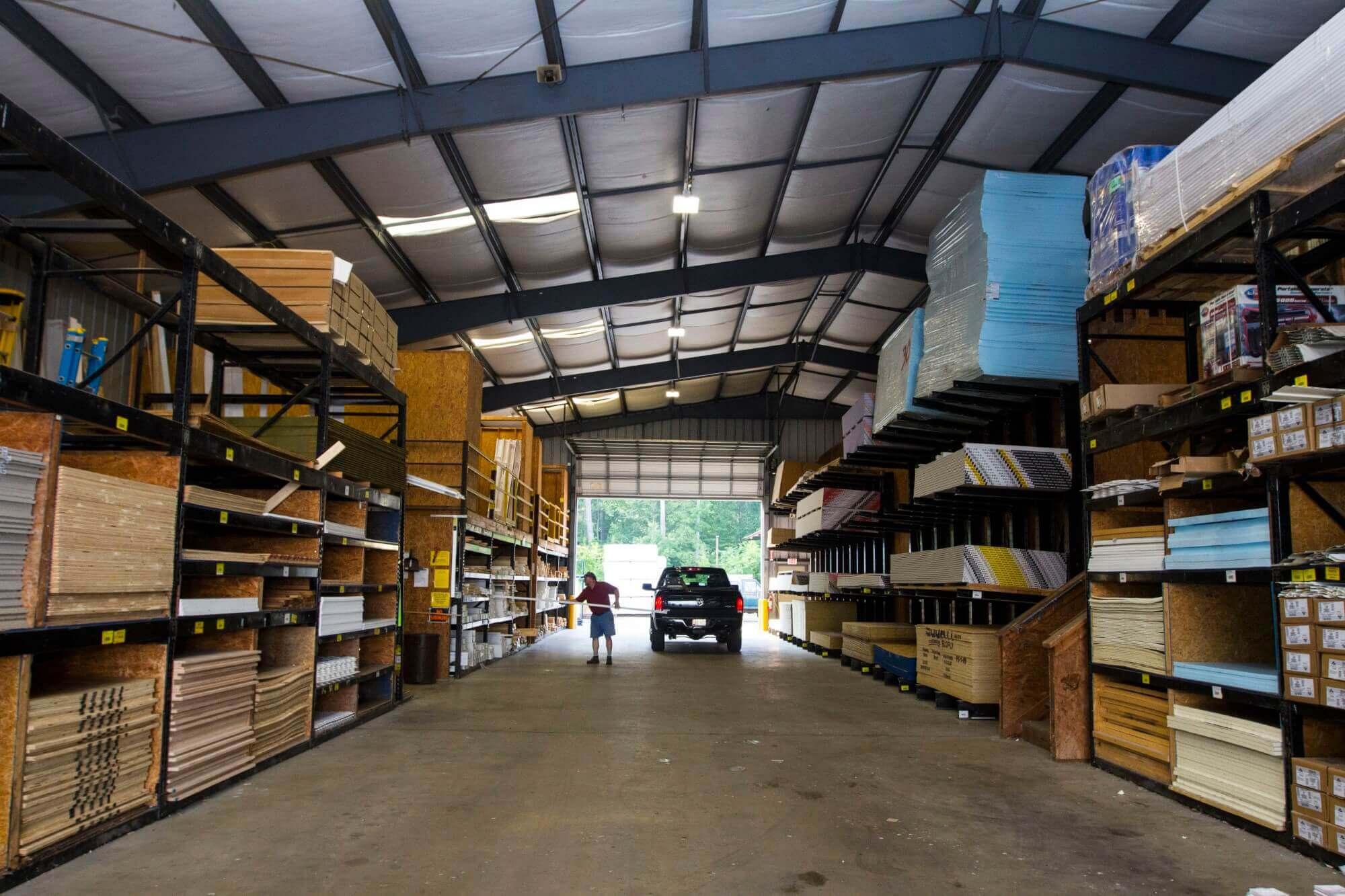 Friel Lumber - Lumber Yard - Indoor Storage